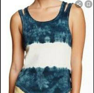 Free People Tie Dye Ribbed Tank Top M Scoop neck